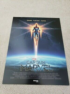 "CAPTAIN MARVEL AMC IMAX Limited 8.5"" X 11"" Mini Poster - New - Ships Flat"