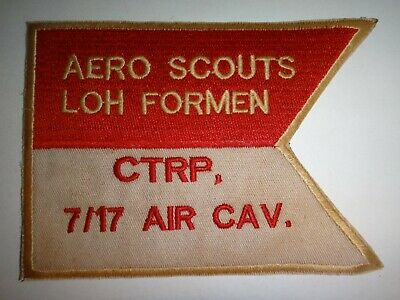 AERO SCOUTS Light Observation Helicopter C Troop 7/17 Cavalry Vietnam War Patch
