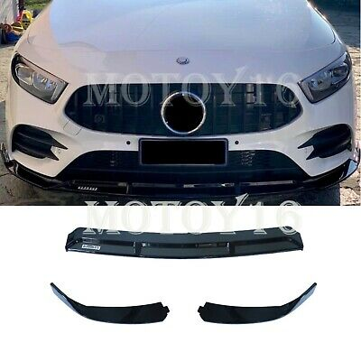 For Mercedes W177 A Class Brabus Style Front Lip A200 A250 A35 for year 2019