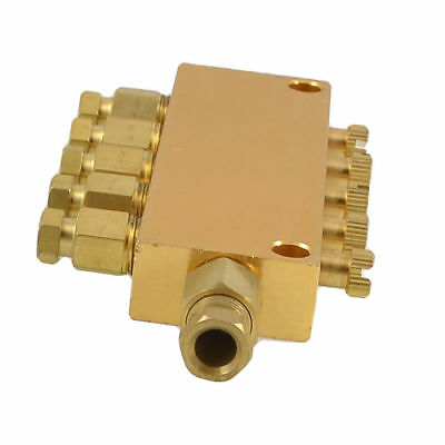 H● Air Pneumatic Brass Adjustable 5 Ways Distributor Regulating Manifold.