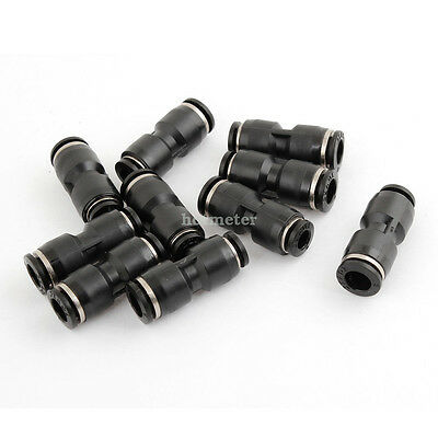 H● 10* 6mm to 8mm Dia Air Tubing Quick Joiner Pneumatic Push In Connector.