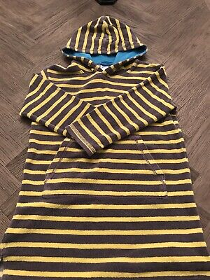 478d9e04479d9 Boys Mini Boden Long Sleeve Hooded Terry Cloth Swim Cover Up, Size 7-8y