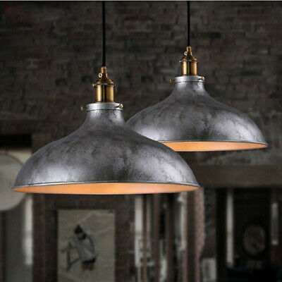 Farmhouse Wrought Iron Pendant Light Barn Bowl Shade Hanging Ceiling Light
