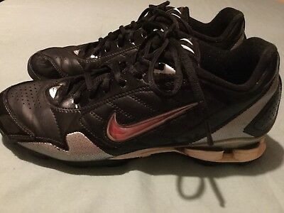 huge discount f913f 7c316 Nike shoes Size 8 baseball shox softball athletic cleats black silver Mens