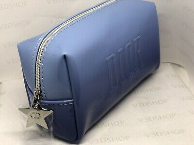 NEW DIOR Makeup Pouch Purple Plastic Christian Dior Travel Cosmetics Bag