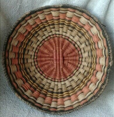 Hopi Wicker Basket Native American Indian Bowl Shaped Fruit Basket