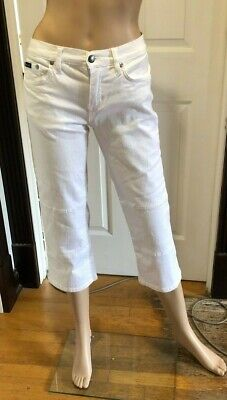 efb2379b23d Womens Juniors BABY PHAT Cropped White Stretch Jeans Capris SZ 5 (26