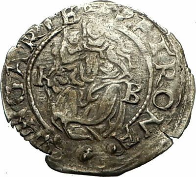 1563 HUNGARY Authentic Antique Hungarian Silver Coin FERDINAND I Madonna i77121