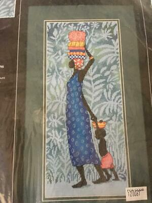 Vintage DIMENSIONS 1999 Julia Cairns Going to Market Embroidery Kit/Cross Stitch