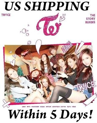 [US SHIPPING] Twice[The Story Begins]1st Mini Album CD+Booklet+Galand+Card+Gift