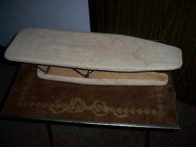 Antique Vintage Folding Wooden Ironing Board For Sleeves and Cuffs