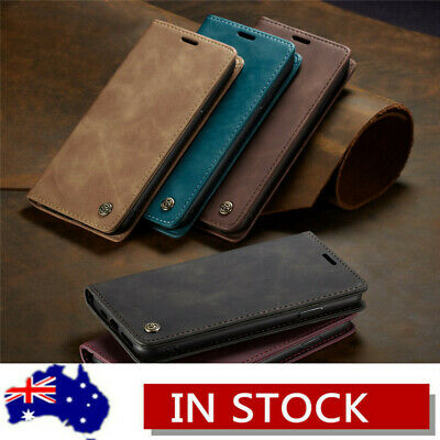 For iPhone XS Max XR X 8 7 6s Plus Magnetic Flip Leather Wallet Card Case Cover