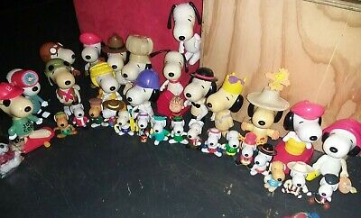 snoopy figurine collection mcdonalds toy large lot
