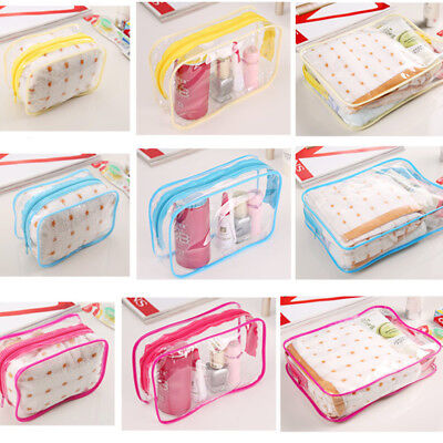 Transparent Cosmetic Case Clear Plastic PVC Cosmetic Make Up Toiletry Bag Travel