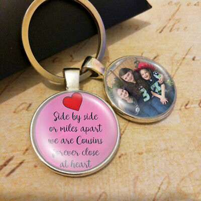 Personalised Cousins Photo Keyring Birthday Gifts Special Heart Presents Forever