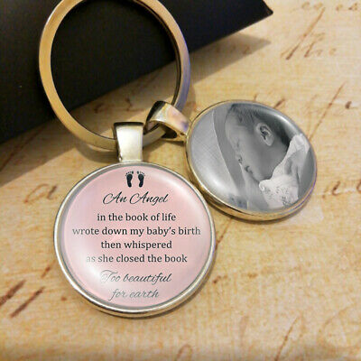 Personalised Infant Lost Memorial Keyring Baby Child Miscarriage Bereavement