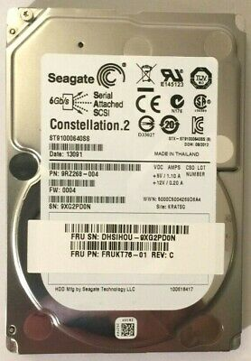 """Seagate 1TB SAS 2.5"""" 6Gbps HDD ST9100640SS for Dell Poweredge HP Proliant Server"""