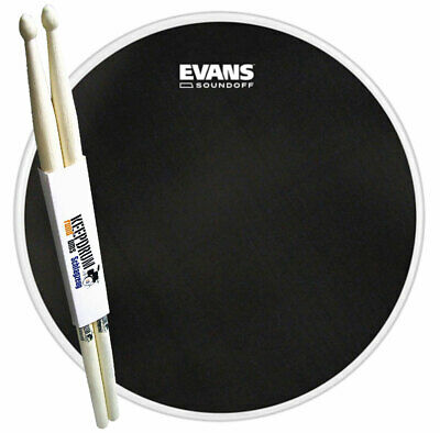 "Evans TT13SO01 SoundOff Meshhead Snare-Fell 13"" + keepdrum Drumsticks 1 Paar"