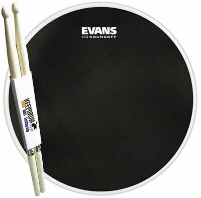 "Evans TT14SO01 SoundOff Meshhead Snare-Fell 14"" + keepdrum Drumsticks 1 Paar"