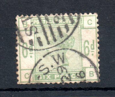 GB QV 1883 6d green good used SG#194 WS13566