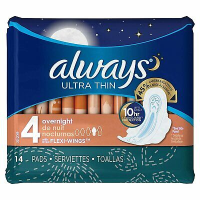 Ultra Thin Pads Overnight With Wings Unscented
