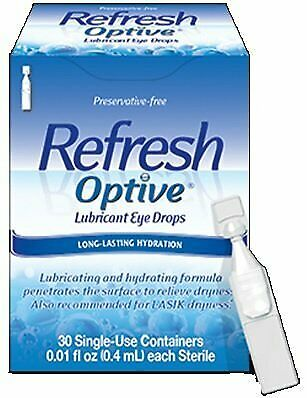 Refresh Optive Lubricant Eye Drops, 30 Single-Use containers Per Box (Pack of...
