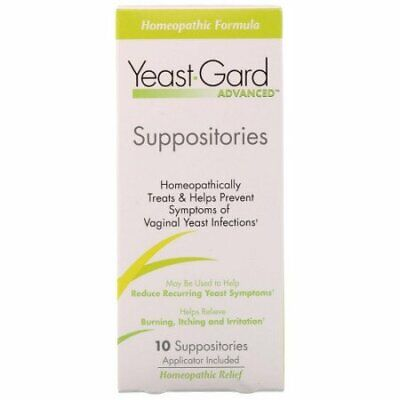 Yeast-Gard Women's Advanced Homeopathic Formula Suppositories 10 Ea (Pack of 8)