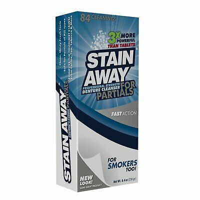 Stain Away Cleanser For Partials 8.40 oz (Pack of 3)