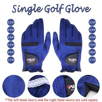 Single Breathable Men Golf Gloves Sports Microfiber Leather Both Hand Protective