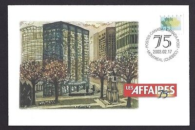 Canada  S52    Special Event Cover   2003   Les Affaires       New & Unaddressed