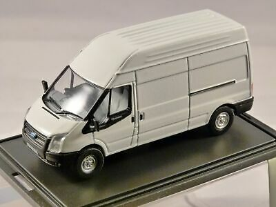 FORD TRANSIT LWB HIGH ROOF VAN in White 1/76 scale model OXFORD DIECAST