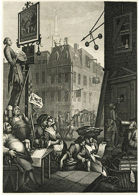 Beer Street by Hogarth  print on 230gsm photo quality paper choose size