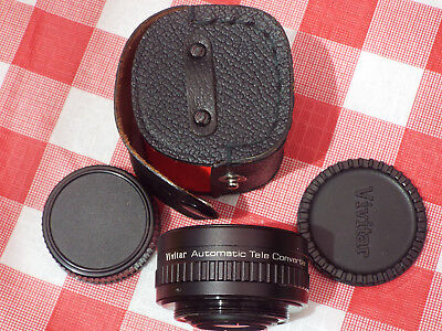Vivitar Automatic Tele Converter Lens 2×-1  with Lens Covers and Case
