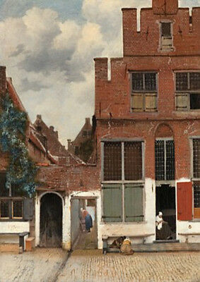 greetings card View of Delft by Vermeer printed on 230gsm photo paper