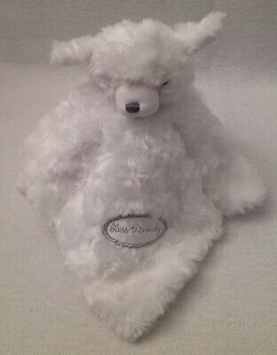 Blankets And /& Beyond Baby Girl White Faux Mink Elephant Applique Layette