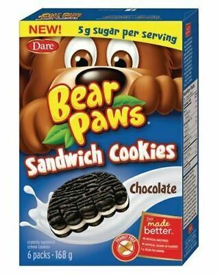 Dare Bear Paws Chocolate Sandwich Cookies, 168g/5.9oz, (Imported from Canada)