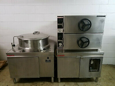 Market Forge M36G300A Steamer Oven Satellite Kettle MT40 40 Gal Nat Gas Tested