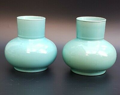 Pair Of Late 19th Century Japanese Celadon Style Glazed Vases