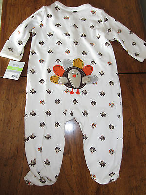 e697562722fe NWT Carter's Baby Unisex THANKSGIVING One Piece Footed Outfit Set 3 Months  CUTE