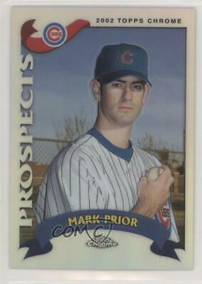 2002 Topps Chrome Traded & Rookies Refractor #T231 Mark Prior Chicago Cubs Card