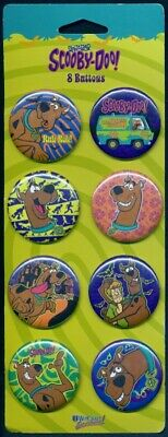 Scooby Doo Shaggy Mystery Machine Set of 8 Pins Back Buttons Collectible
