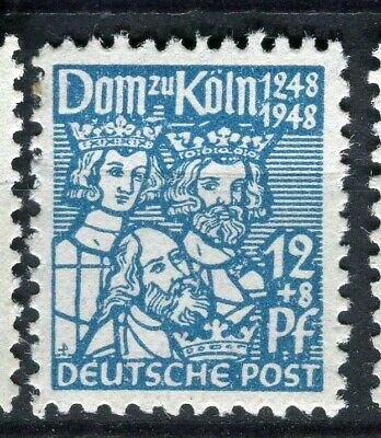 GERMANY; ALLIED OCC. British & US Zone 1948 Cologne Cathedral mint 12pf.