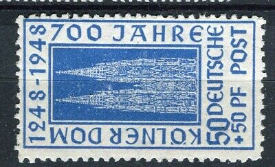 GERMANY; ALLIED OCC. British & US Zone 1948 Cologne Cathedral mint 50pf.