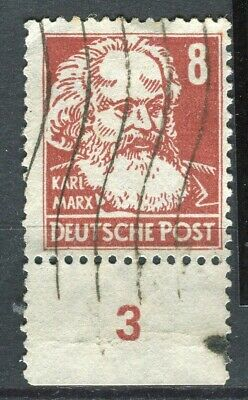 GERMANY; ALLIED OCC. Russian Zone 1948 Portraits issue used 8pf. marginal