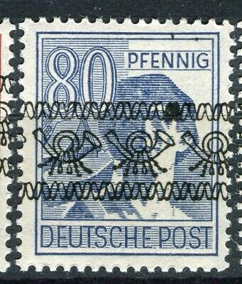 GERMANY; ALLIED OCC. British & US Zone Currency Reform Optd. Mint hinged 80pf.