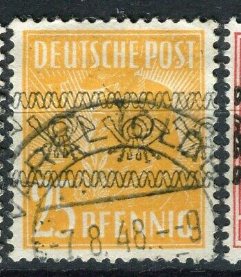 GERMANY; ALLIED OCC. British & US Zone Currency Reform Optd. fine used 25pf.