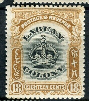FRENCH COLONIES; 1902 LABUAN Crown Colony issue Mint hinged Shade of 18c. value
