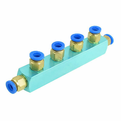 H● Gold Tone Screw 8mm 4 Way Push Fitting in Quick Coupler.