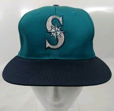 size 40 e2310 02425 Seattle Mariners MLB Vintage 1994 SGA vs White Sox Teal Blue Snapback Cap  Hat
