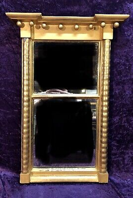 Antique American Federal Gilt Wood Wall Mirror 19th Century